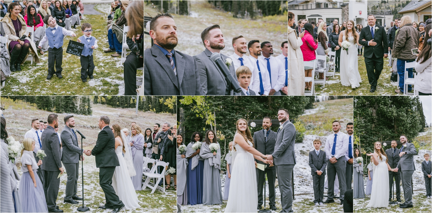 los angeles international destination wedding photographer solitude mountain utah wedding snow