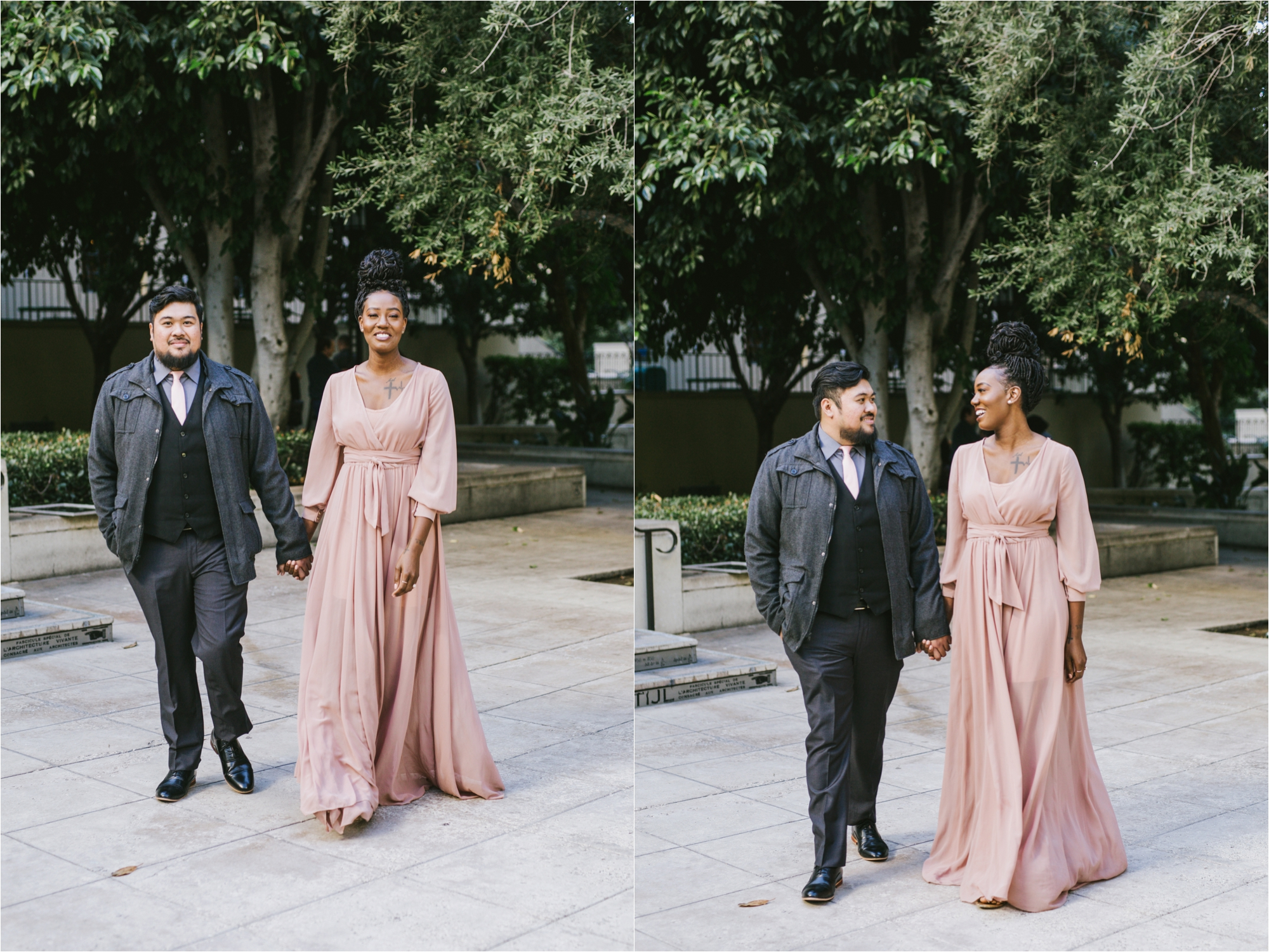 los angeles destination wedding engagement proposal photographer public library
