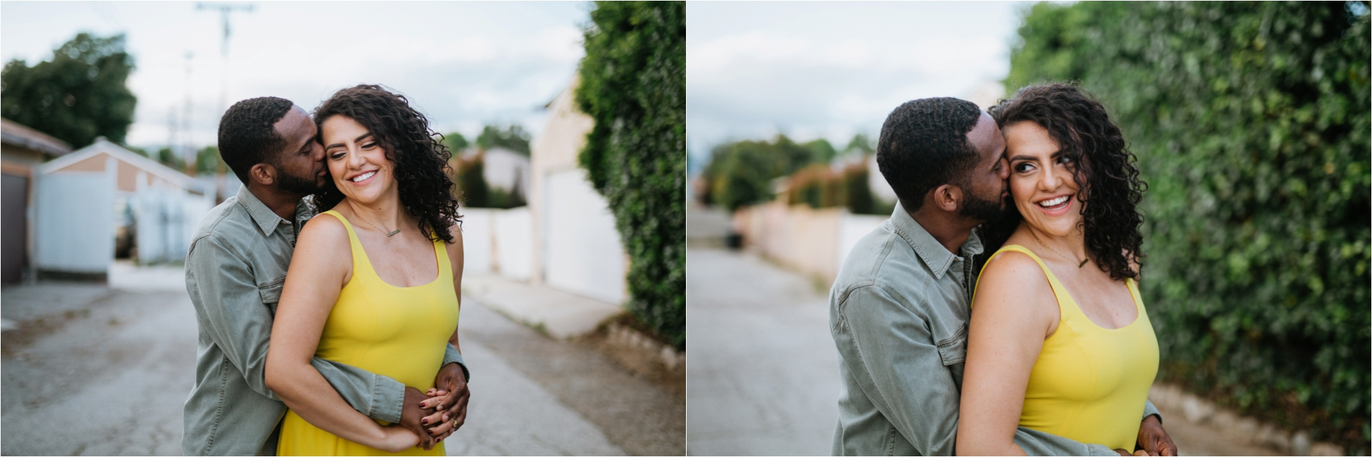 los angeles wedding photographer engagement in home session west covina love interracial